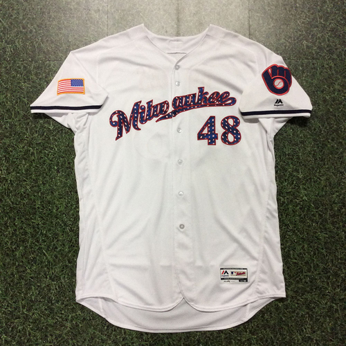 Photo of Jared Hughes 2017 Game-Used Stars & Stripes Jersey