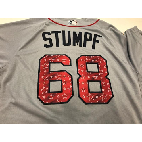 Photo of Game-Used Stars and Stripes Jersey: Daniel Stumpf