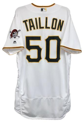 Photo of Jameson Taillon 2018 Game-Used Jersey - Opening Day Winning Pitcher
