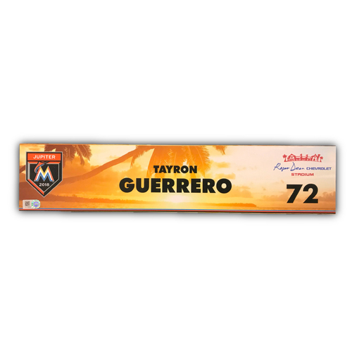 Photo of Game-Used Locker Tag: Tayron Guerrero - 2018 Spring Training
