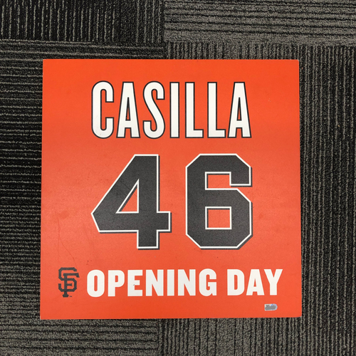 Photo of 2016 Opening Day Ceremony Disk - #46 Santiago Casilla