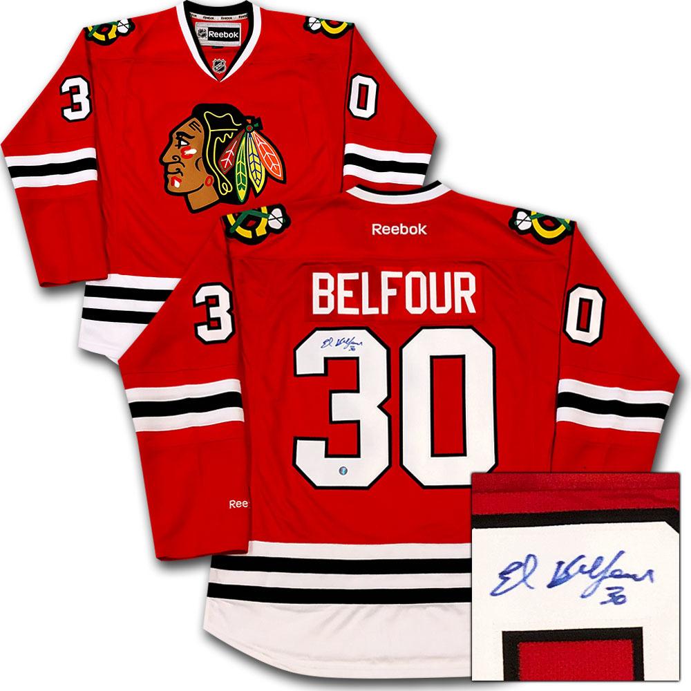 Ed Belfour Autographed Chicago Blackhawks Jersey