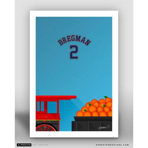Photo of Minimalist Minute Maid Park Alex Bregman Player Series Art Print by S. Preston - Limited Edition