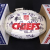 Chiefs - 2017 Team Signed Panel Ball with Chiefs Logo and over 25 Signatures Including Pat Mahomes, Alex Smith, Travis Kelce, Eric Berry, Ron Parker and others