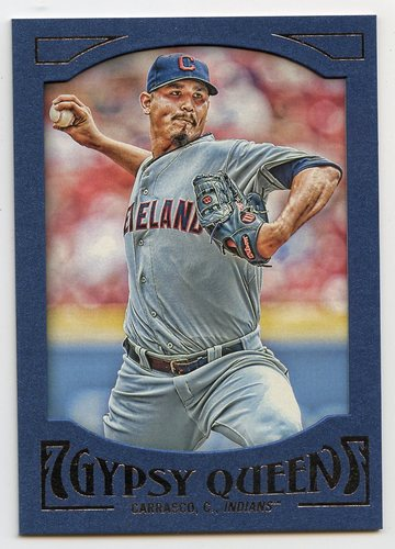 Photo of 2016 Topps Gypsy Queen Framed Blue #97 Carlos Carrasco