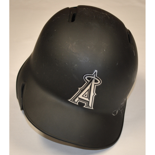 "Photo of Brian ""GOODWIN"" Goodwin Los Angeles Angels Game-Used 2019 Players' Weekend Helmet"