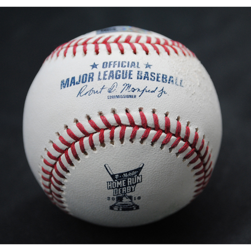 Photo of 2018 Home Run Derby (07/16/18) - Game-Used Baseball - Freddie Freeman (Atlanta Braves) - Round 1, HR #11