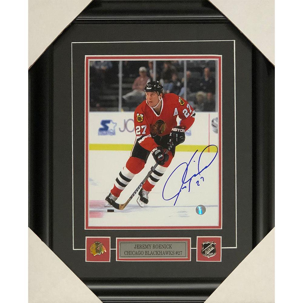 Jeremy Roenick Autographed Chicago Blackhawks Framed 8X10 Photo