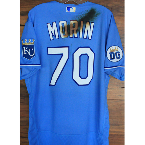Photo of Alex's Lemonade Stand Foundation: Team-Issued Parker Morin  Jersey (Size 46 - Authenticated as Team-Issued on 9/26/20 DET @ KC)