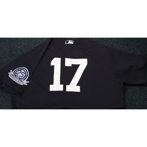 Photo of Team-Issued Spring Training Jersey - Aaron Boone - #17 - Jersey Size - 44