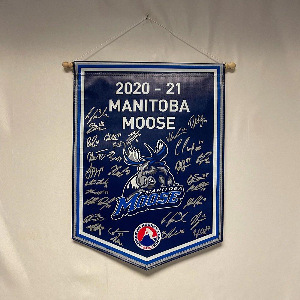 2020-21 Manitoba Moose Team-Signed Banner