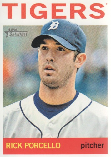 Photo of 2013 Topps Heritage #257 Rick Porcello