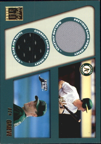 Photo of 2001 Topps Traded Dual Jersey Relics #TTRBG Ben Grieve
