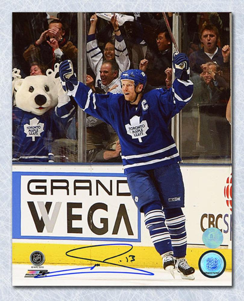 Mats Sundin Toronto Maple Leafs Autographed Celebration 8x10 Photo