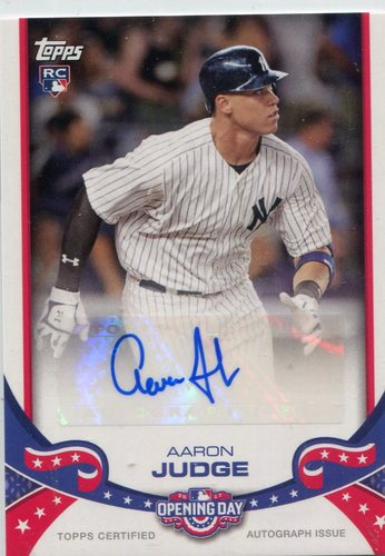 Photo of 2017 Topps Opening Day Autographs Aaron Judge