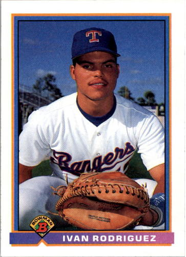 Photo of 1991 Bowman #272 Ivan Rodriguez Rookie Card  -- Hall of Fame Class of 2017