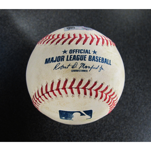 Photo of Game-Used Baseball Pitcher: Shohei Ohtani, Batter: Robinson Cano (Fly Out) /Nelson Cruz (Pop Out)/Kyle Seager (Singles)  5-6-2018