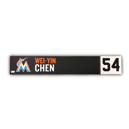 Game-Used Locker Tag: Wei-Yin Chen