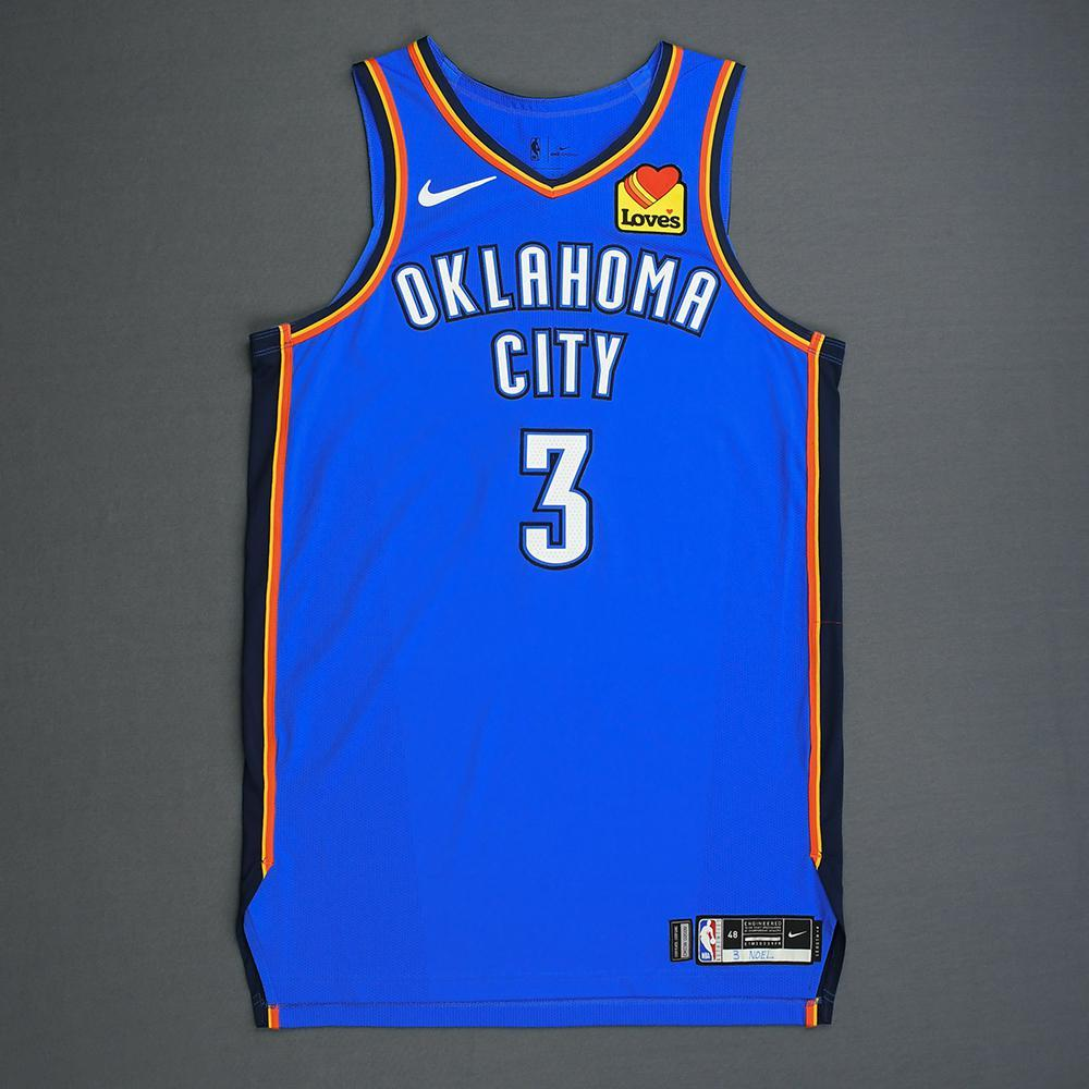 Nerlens Noel - Oklahoma City Thunder - Game-Worn Icon Edition Jersey - 2019 Playoffs