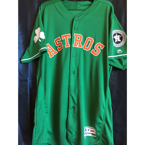 Photo of George Springer Team-Issued 2019 St. Patrick's Day Jersey