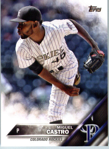 Photo of 2016 Topps #615 Miguel Castro