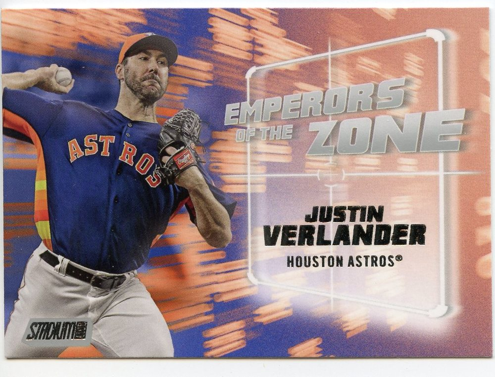 2019 Stadium Club Emperors of the Zone #EZ24 Justin Verlander