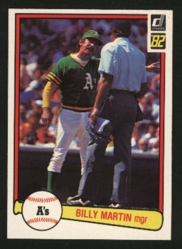 Photo of 1982 Donruss #491 Billy Martin MG