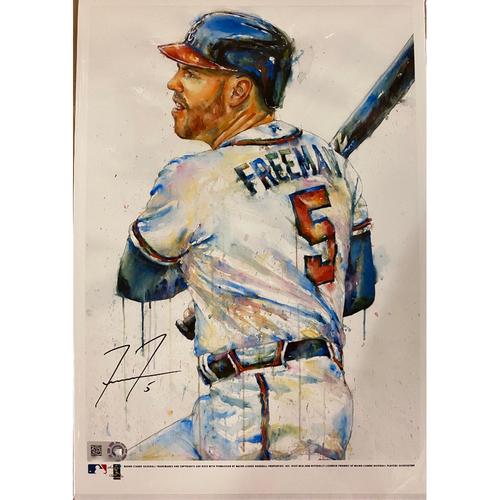 Photo of Freddie Freeman Autographed Richard Sullivan Art 7x10 Print