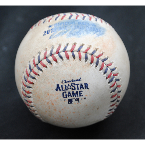 Photo of 2019 All-Star Game (7/9/2019) - Game-Used Baseball - Bottom 1 - Batter - DJ LeMahieu (New York Yankees), Pitcher - Hyun-Jin Ryu (Los Angeles Dodgers) - Groundout