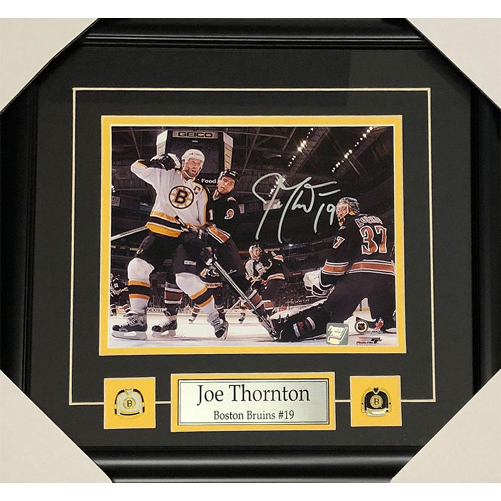 Joe Thornton Autographed Boston Bruins Framed 8X10 Photo
