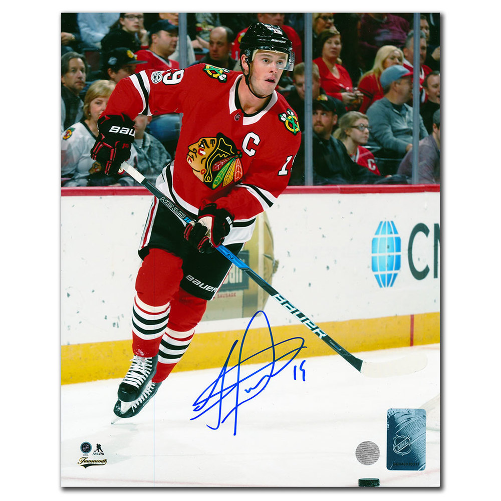 Jonathan Toews Chicago Blackhawks CAPTAIN Autographed 8x10