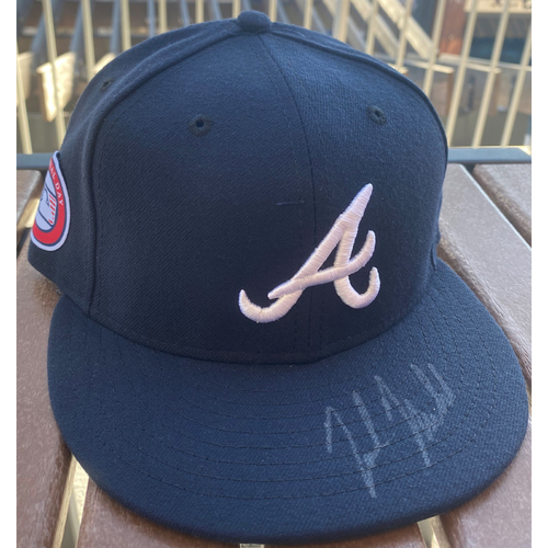 Photo of Nick Markakis Autographed Memorial Day Hat