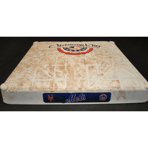 Photo of Game-Used Base - 4/8/11 - WSH at NYM - 1st Base, Innings 7-9 - Opening Day