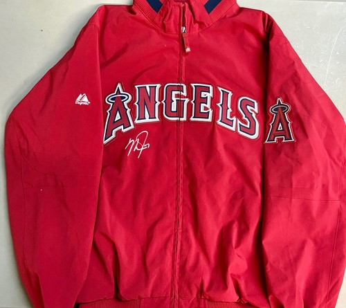 Photo of Mike Trout Autographed Angels Majestic Coat - Trout Home Collection