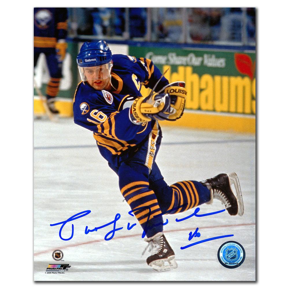 Pat LaFontaine Buffalo Sabres SLAPSHOT Autographed 8x10