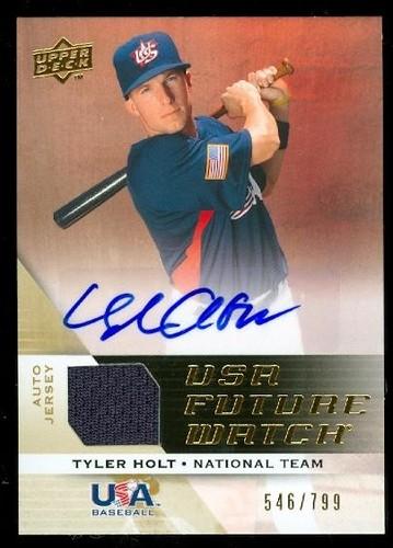 Photo of 2009 Upper Deck Signature Stars USA National Team Future Watch Jersey Autographs #10 Tyler Holt/799