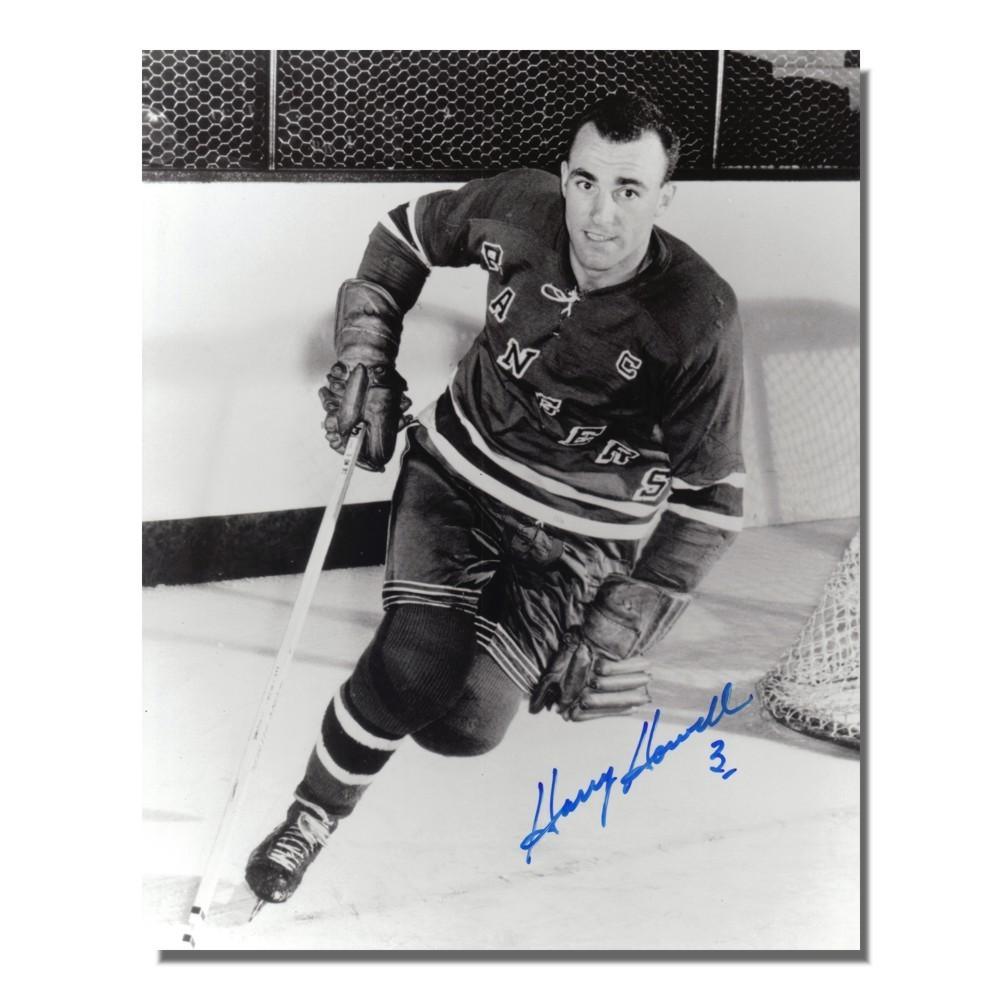 Harry Howell Autographed New York Rangers 8x10 Photo