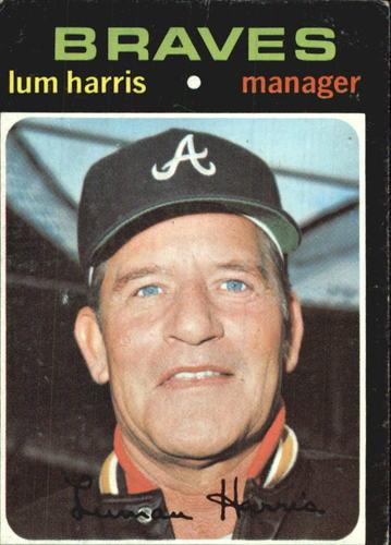 Photo of 1971 Topps #346 Lum Harris MG