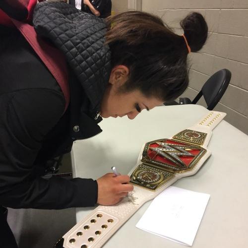 Bayley SIGNED WWE RAW Women's Championship Replica Title (RAW - 02/13/17)