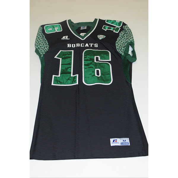 Photo of # 16 - Official OHIO BOBCATS Game Worn Football Jersey (2011) - SIZE MEDIUM