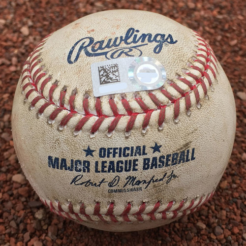 San Francisco Giants - Game-Used Baseball - Jarrett Parker RBI double off Chris Smith on 8/3/17