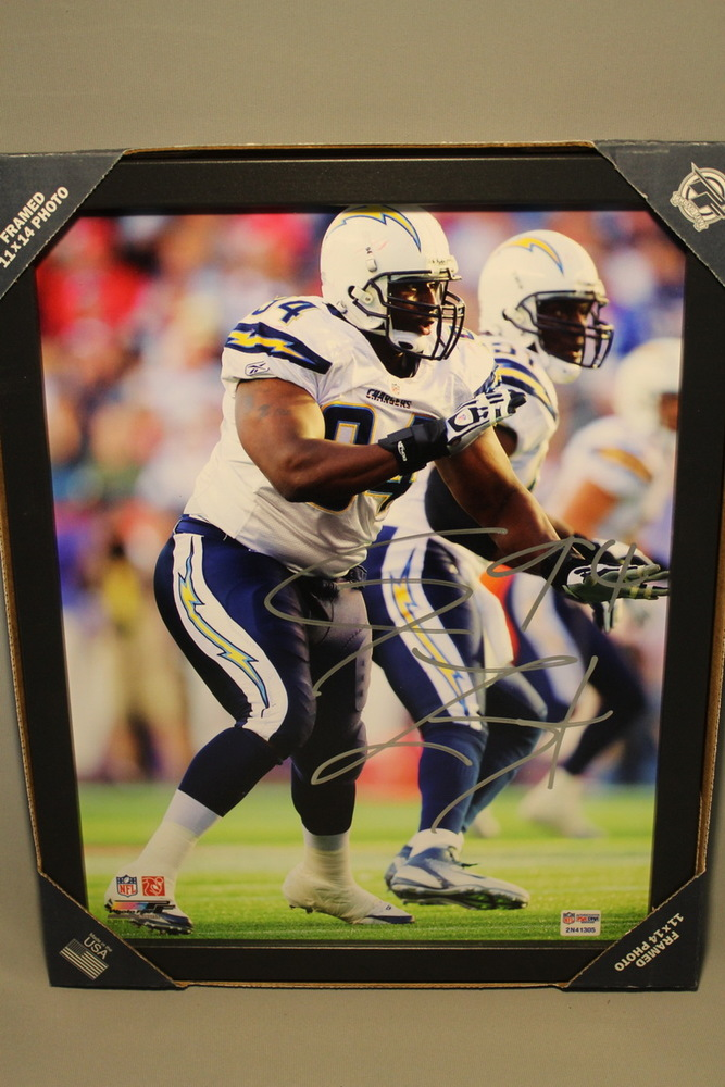 CHARGERS - COREY LIUGET SIGNED 11X14 FRAMED PHOTO