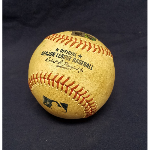 Game-Used Baseball: Albert Pujols RBI Double vs Indians - 9/21/17