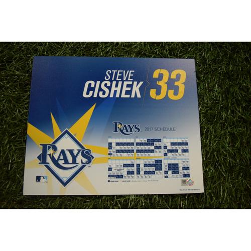 2017 Team-Issued Locker Tag - Steve Cishek