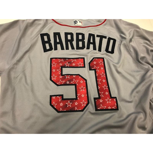 Photo of Team-Issued Stars and Stripes Jersey: Johnny Barbato