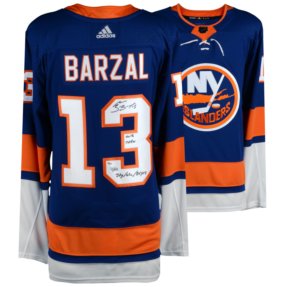 Mathew Barzal New York Islanders Autographed Blue Adidas Authentic Jersey with Multiple Inscriptions - Limited Edition of 13