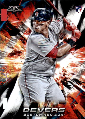 Photo of 2018 Topps Fire #118 Rafael Devers RC
