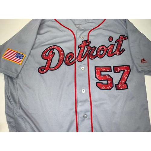 Photo of Game-Used Stars and Stripes Jersey: Artie Lewicki