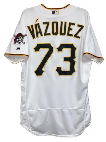 Photo of Felipe Vazquez 2018 Game-Used Jersey - 36th Save - 1.0 IP, 2 SO