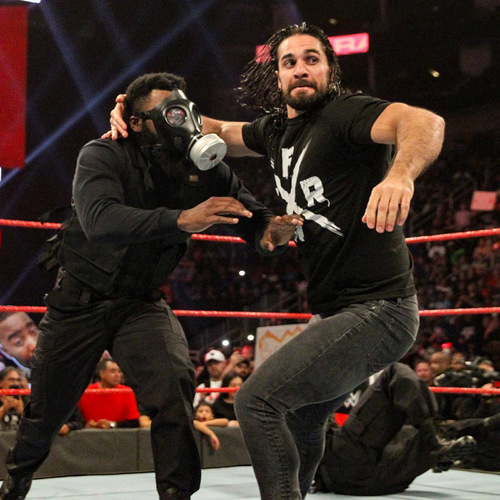 Photo of Seth Rollins WORN & SIGNED T-Shirt (RAW - 12/3/18)